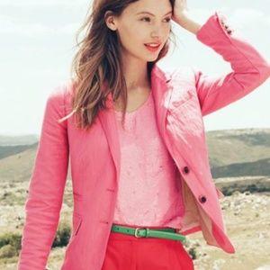 J.Crew Pink Schoolboy Blazer Size 4p